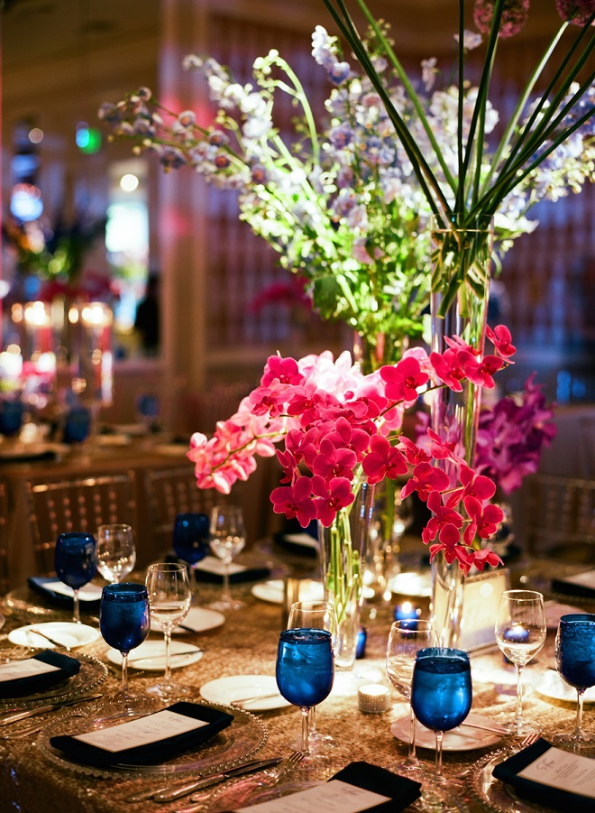 purple orchids blue wedding flowers philadelphia weddings evantine design liz banfield