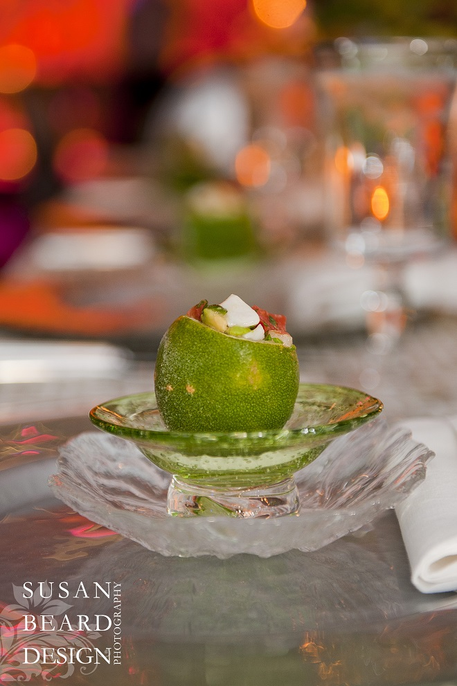 The Amuse Bouche of --- by Leslie Rosen Catering. Evantine Design.