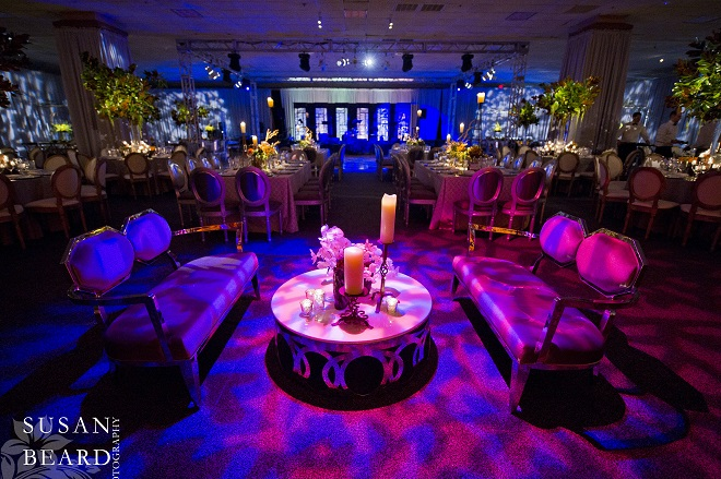 residential party design for philadelphia bar mitzvahs evantine design blue lighting