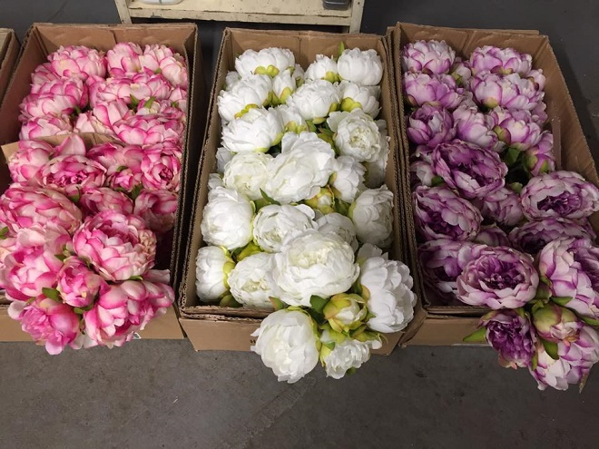 Silk Flowers Faux Roses and Peonies Evantine Design Rittenhouse Florists