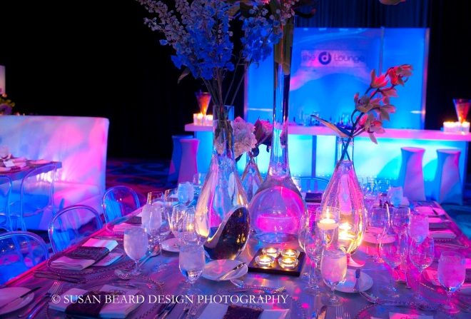 blue and purple lighting for parties philly events evantine design