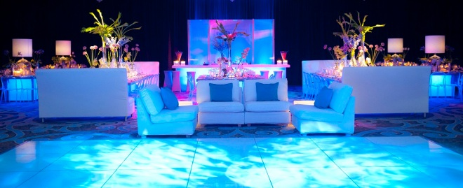 blue wave lighting white dance floor philly mitzvahs evantine design susan beard