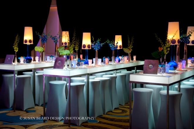 kids tables for mitzvahs high community tables blue and white event designe evantine design