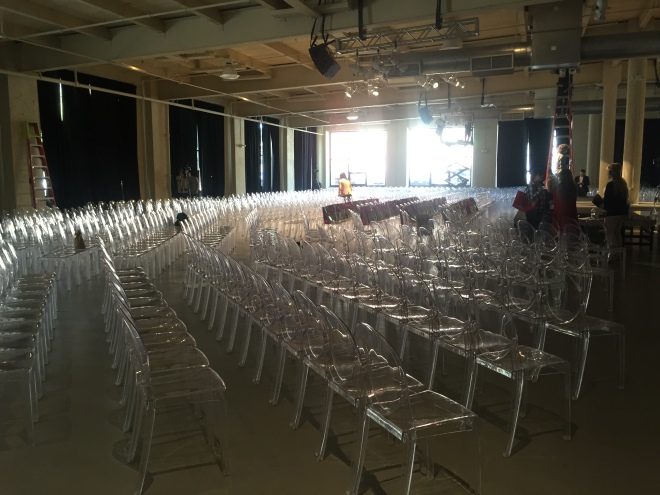 lucite chairs for events philadelphia fashion show evantine design