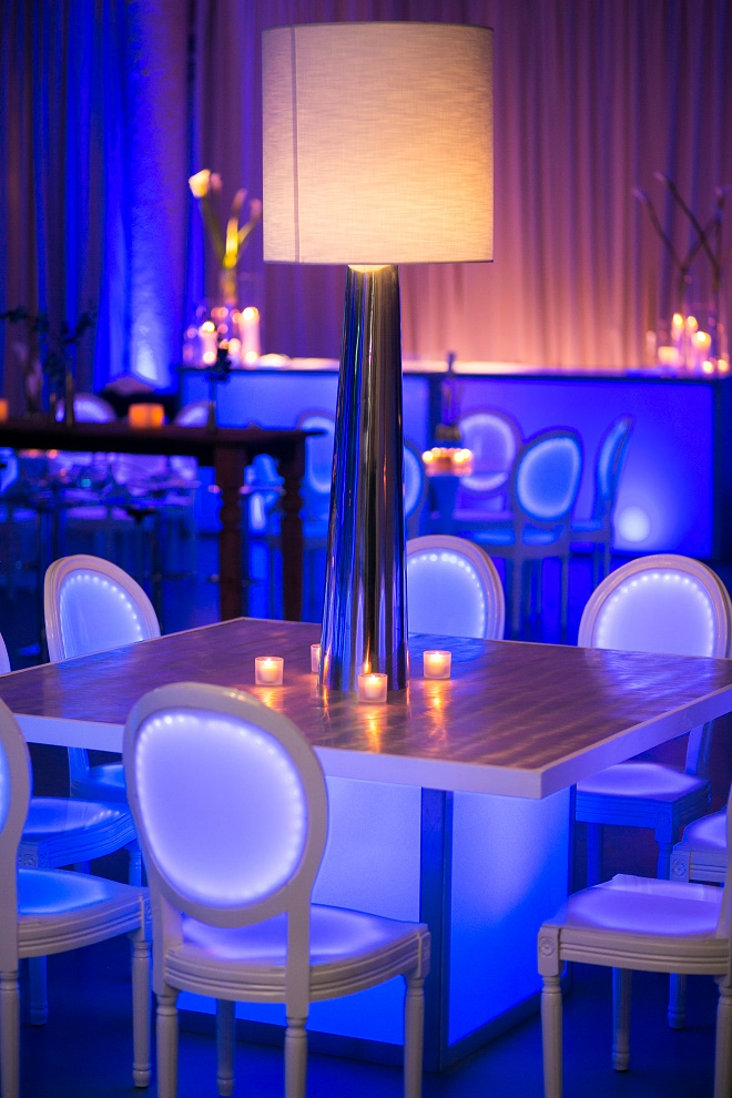 modern white lounge mitzvah with raw wood blue lighting evantine designn moulin loft space philadelphia 9