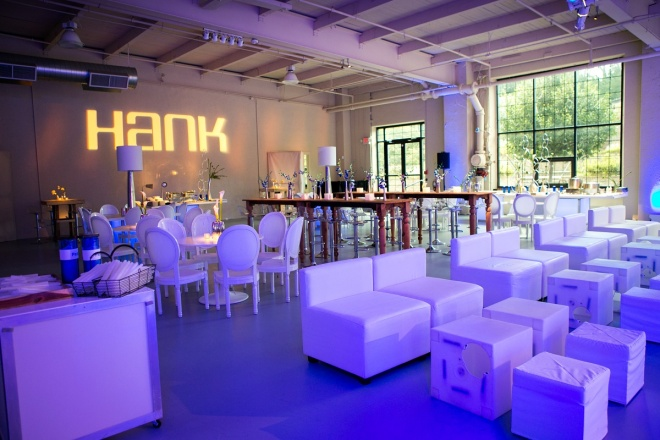 Wood Tables White Modern Lounge Furniture Blue Orchids Loft Venues Philadelphia Mitzvahs Evantine Design Moulin Sherman Mills
