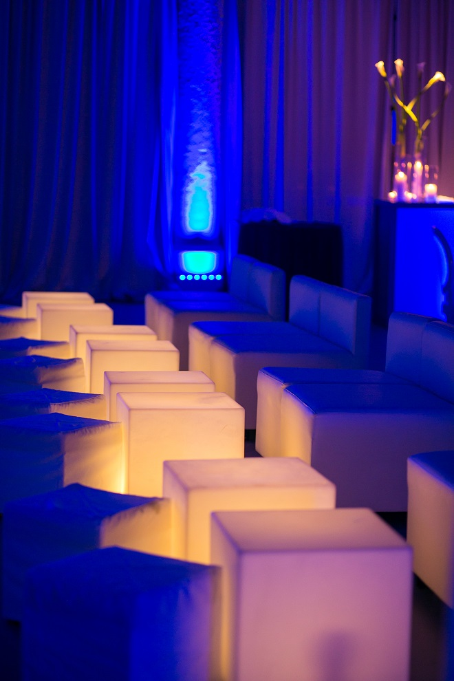 light up bar mitzvahs blue lighting white modern furniture for parties evantine design philadelphia party planners 2