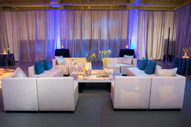 modern white lounge mitzvah with raw wood blue lighting evantine designn moulin loft space philadelphia 17