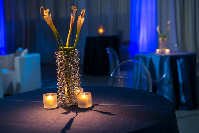 modern white lounge mitzvah with raw wood blue lighting evantine designn moulin loft space philadelphia 31