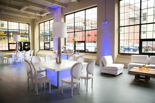 modern white lounge settings blue lighting philly mitzvahs evantine design brian kappra pictures by todd