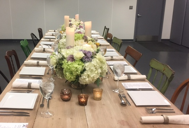 The table is set for the food tasting...