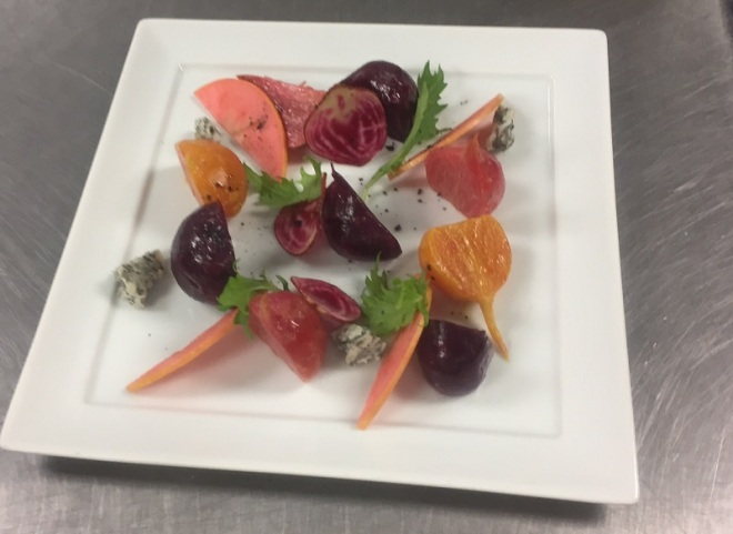 Market Beets with heirloom Apples – SO GOOD.